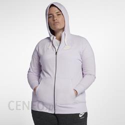 Damska rozpinana bluza z kapturem Nike Sportswear Gym Vintage (duże rozmiary) Fiolet Ceny i opinie Ceneo.pl