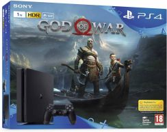 SONY PlayStation 4 Slim 1TB czarny + God of War