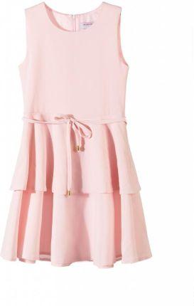 5d8c3d61b44a09 Amazon Sukienka dla dziewczynki 3 warstwy różowe kwiaty na kuchenkę ...