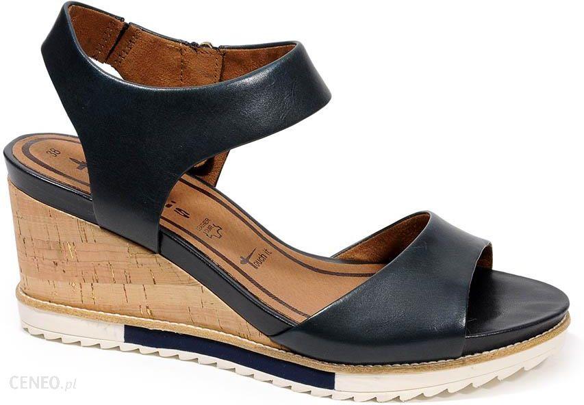 buty obcasie damskie sandały na koturnie Tamaris, porównaj