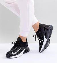 Nike Air Max 270 Flyknit Trainers Black Ceneo.pl