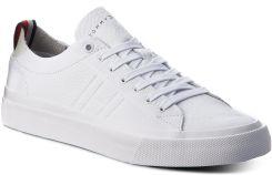 0532f6d59d2dd Sneakersy TOMMY HILFIGER - Unlined Low Cut Leather Sneaker FM0FM01627 White  100