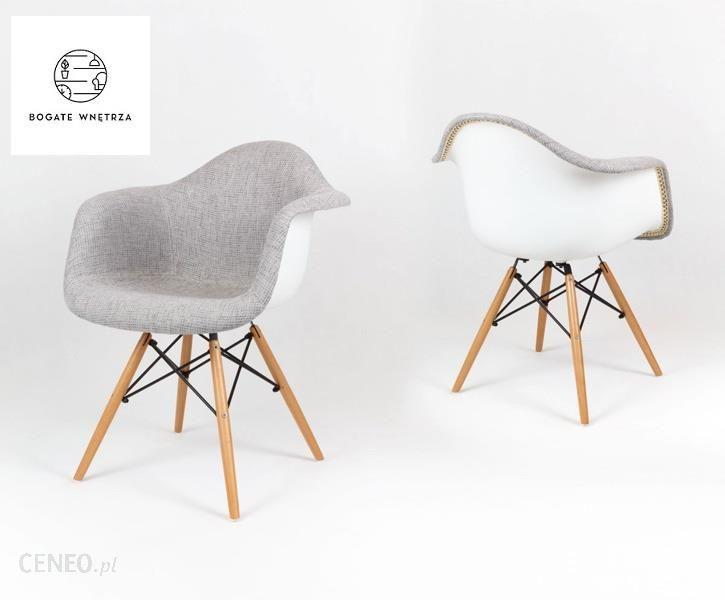 SK Design Nowoczesne krzesło tapicerowane szare NORDIC Opinie i atrakcyjne ceny na Ceneo.pl