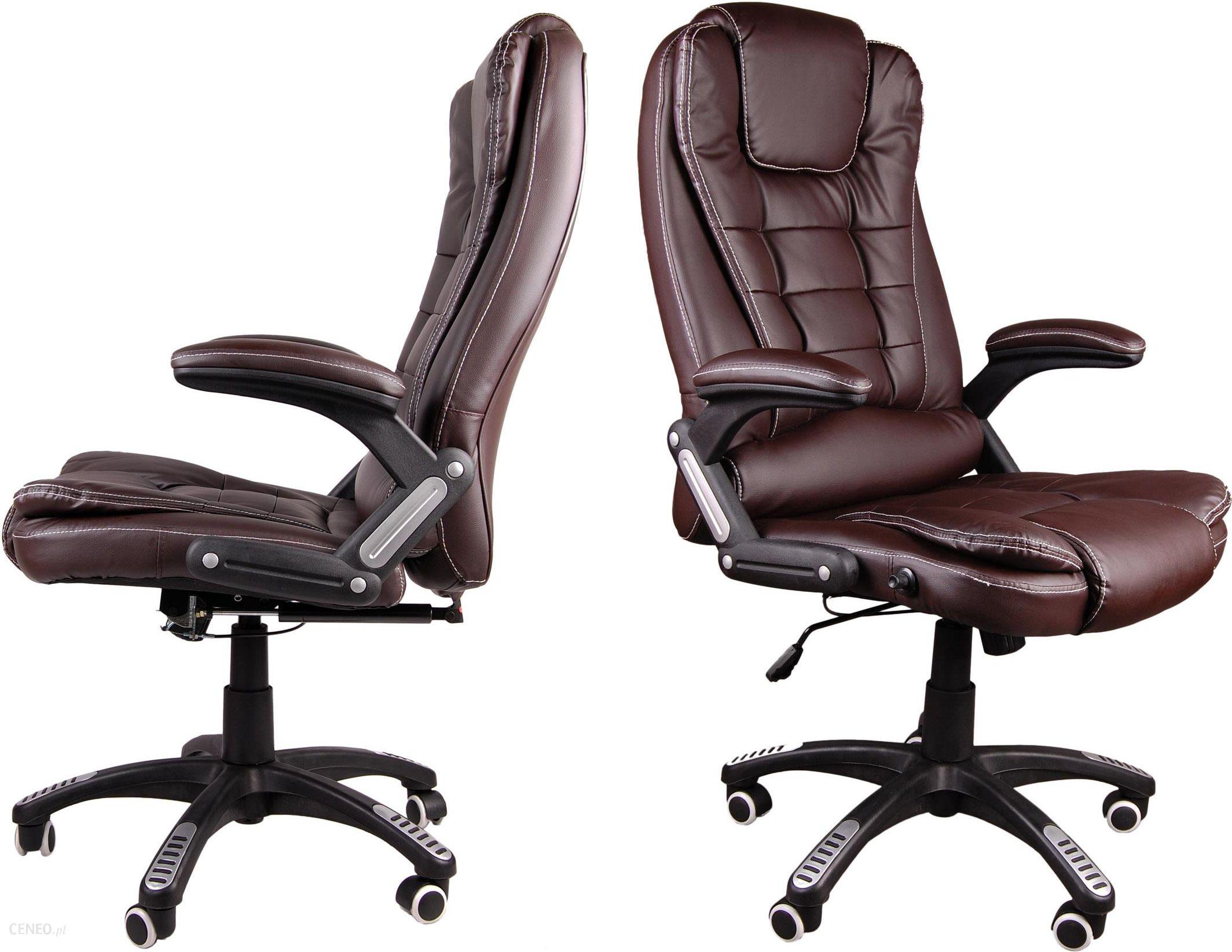 Nowy Brązowy Fotel Biurowy Krzesło Obrotowe BSB003