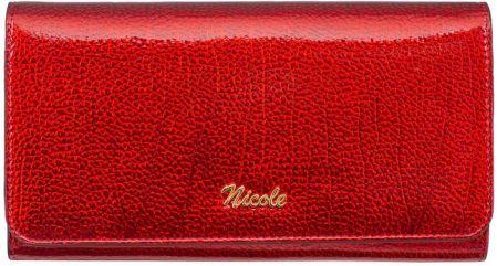 2278114502eda Portfel damski skórzany Nicole lakierowany perła - Ceny i opinie ...
