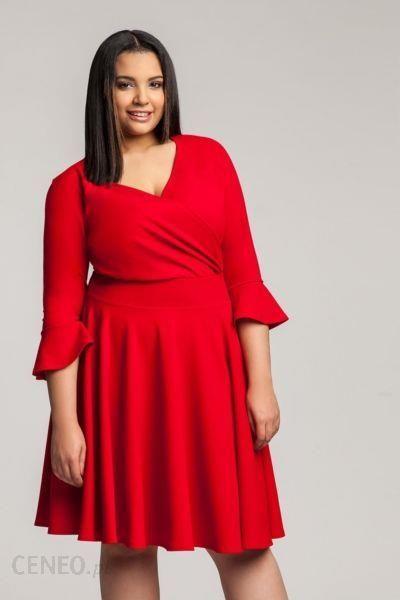 ac176d81cb Czerwona sukienka plus size na chrzciny 46 XXL - Ceny i opinie ...