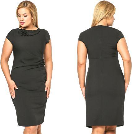 4d7440972a Elegancka dopasowana sukienka wizytowa 48 4XL - Ceny i opinie - Ceneo.pl
