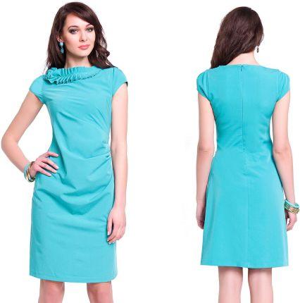 afb638f011 Sukienka o prostym kroju z krótkim rękawem 42 XL - Ceny i opinie ...