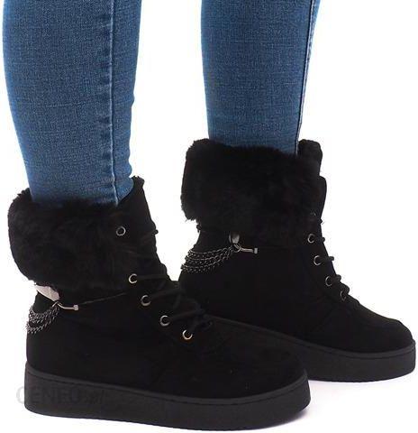 07b3ba4b00c33 Ocieplane Botki Sneakersy Trampki 16-560 Czarny 40 - Ceny i opinie ...