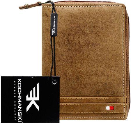 52ff5224b9a1c Podobne produkty do Surowy skórzany portfel męski Kochmanski Rfid stop.  Dziki portfel męski skórzany Kochmanski z bawoła Allegro