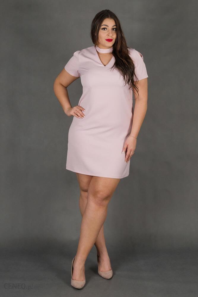 68d05dd1b6 Różowa Sukienka CASCADA Trapezowa Plus Size - różowy - Ceny i opinie ...