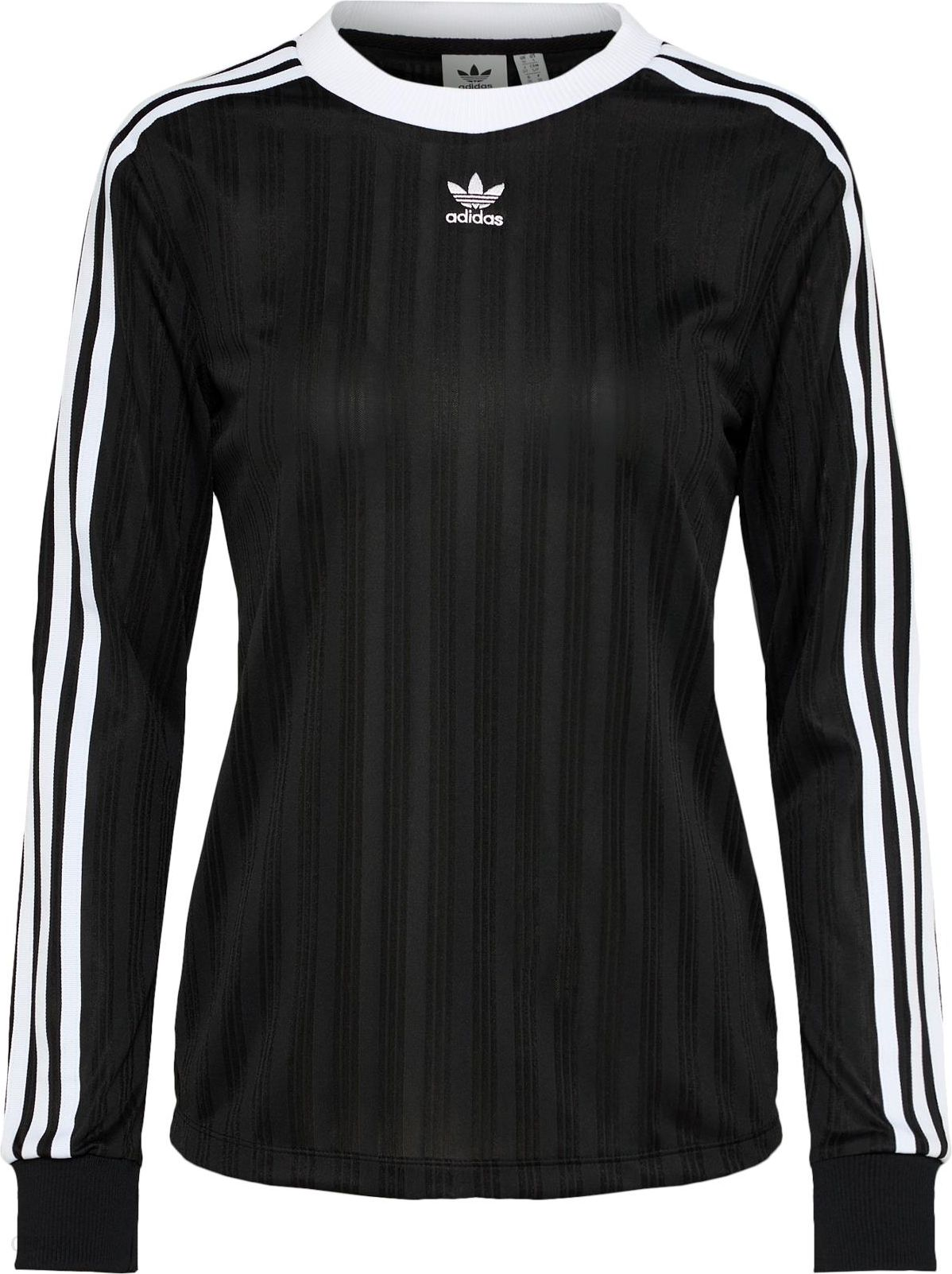 Adidas Originals Damska Koszulka 3 Stripes CzarnyBialy Online