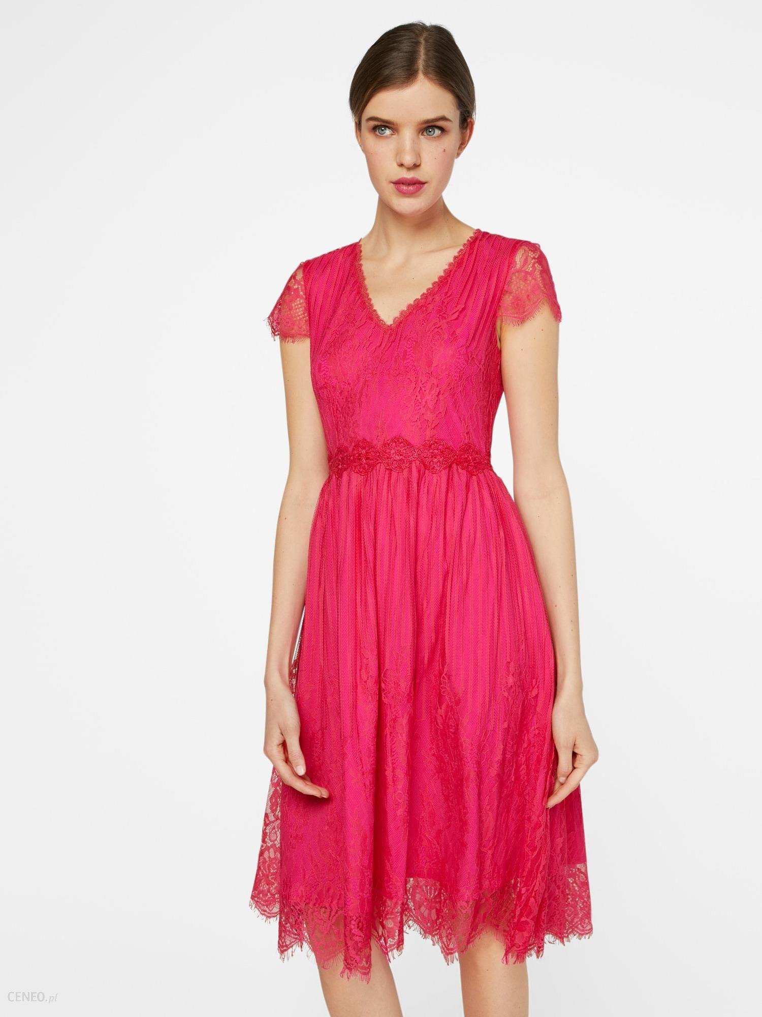 f6429bf46b Four Flavor Sukienka koktajlowa  FIVI3  Malinowy - Ceny i opinie ...
