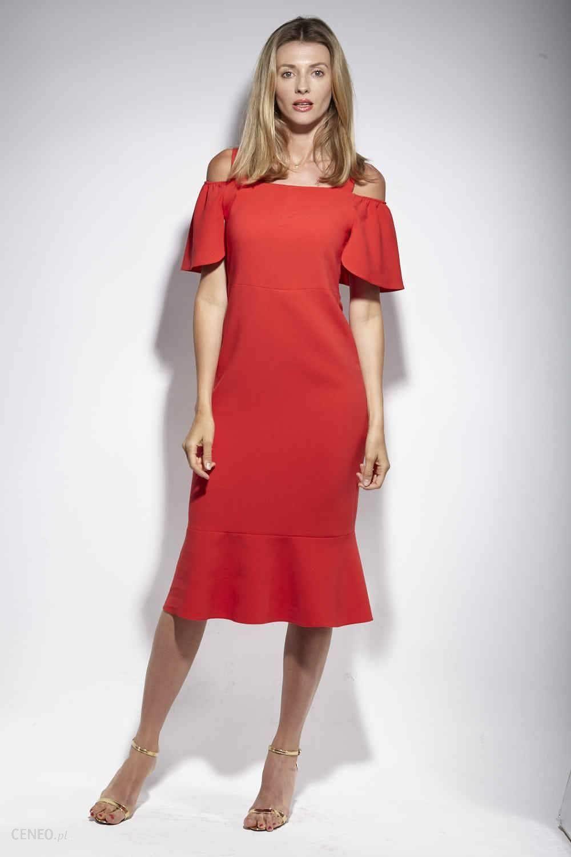 891e31b2c8 DOROTHÉ Sukienka Sophie klasyczna czerwień elegancka Czerwony - zdjęcie 1