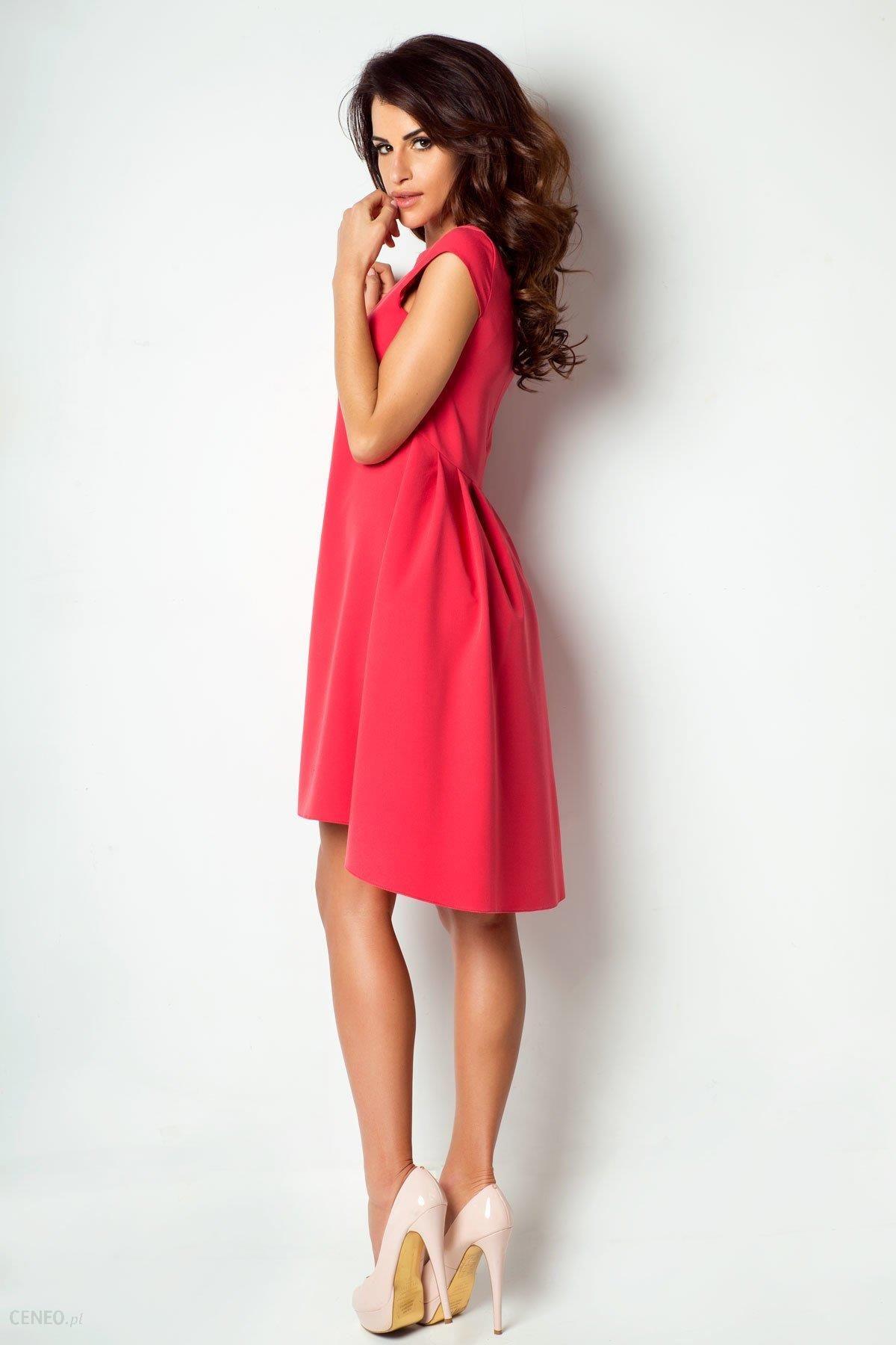6acffb7242 IVON Sukienka Angelina Czerwony - Ceny i opinie - Ceneo.pl