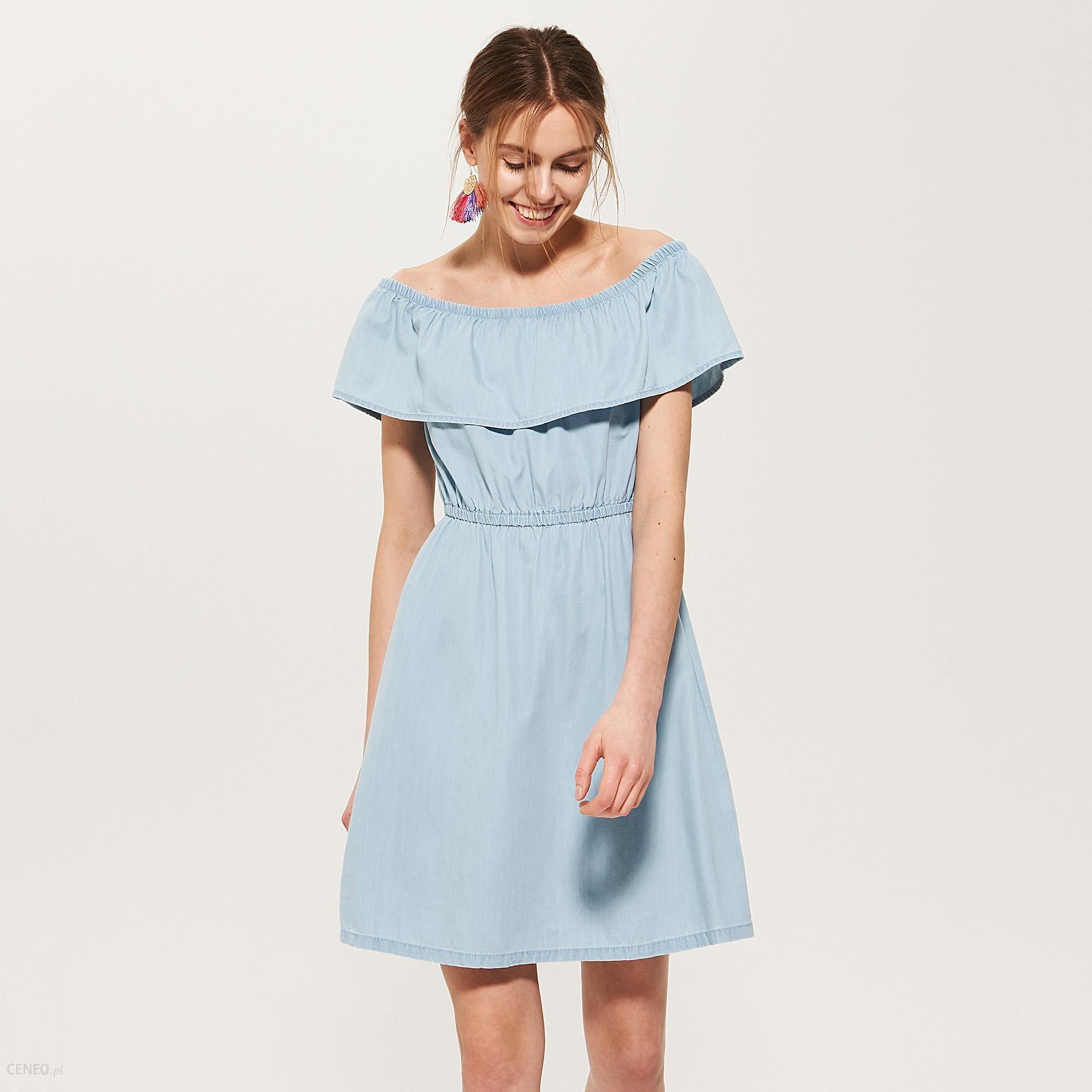 8af147ab6b House - Denimowa sukienka hiszpanka - Niebieski - Ceny i opinie ...