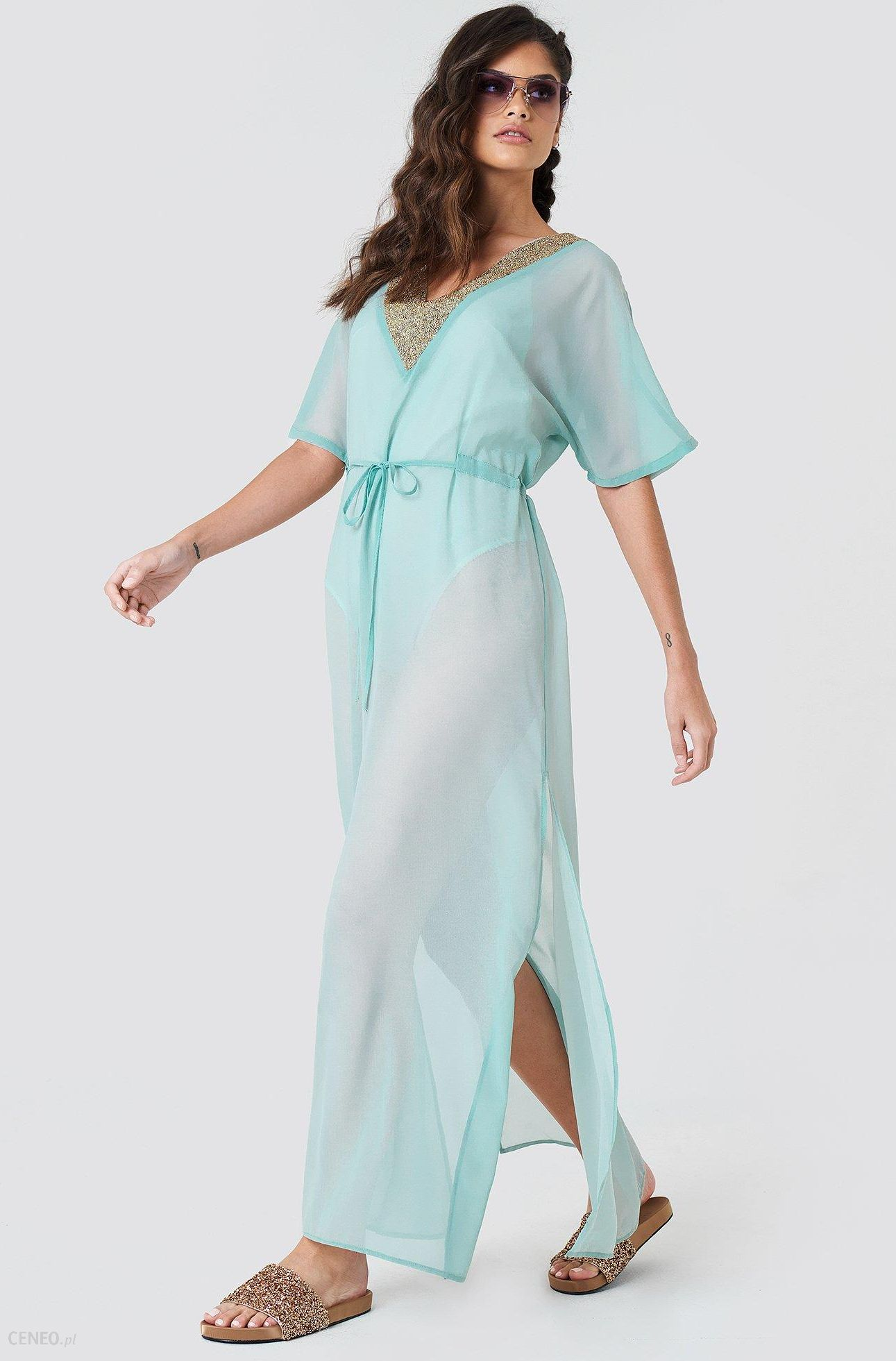 658b4657 NA-KD Zdobiona sukienka typu kaftan