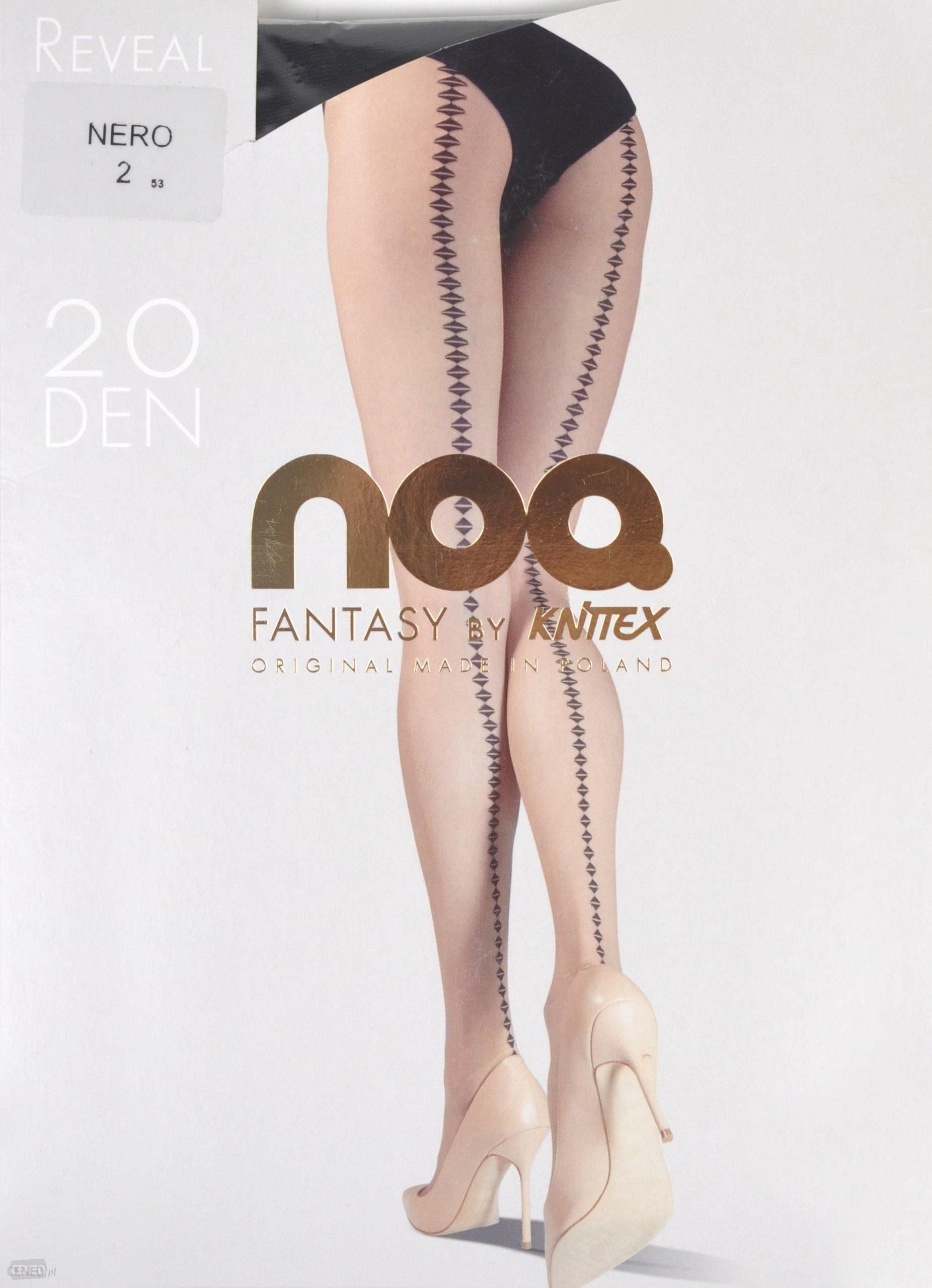 f93900e09c2bb6 Rajstopy Knittex reveal Natural/Nero 2 - Ceny i opinie - Ceneo.pl
