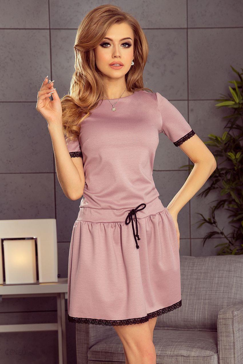 35d9a7b1d1 Lisa Sukienka z koronkowymi wstawkami - Brudny Róż - Ceny i opinie ...