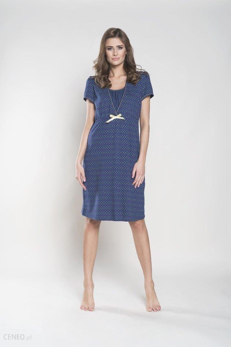 82914c07d4d3db Italian Fashion, Tulia, Koszula nocna dla matek karmiących, krótki rękaw,  rozmiar S
