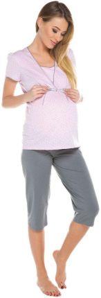 1035b2afc5c5b6 Italian Fashion, Felicita, Piżama dla matek karmiących, rękaw 3/4, rozmiar