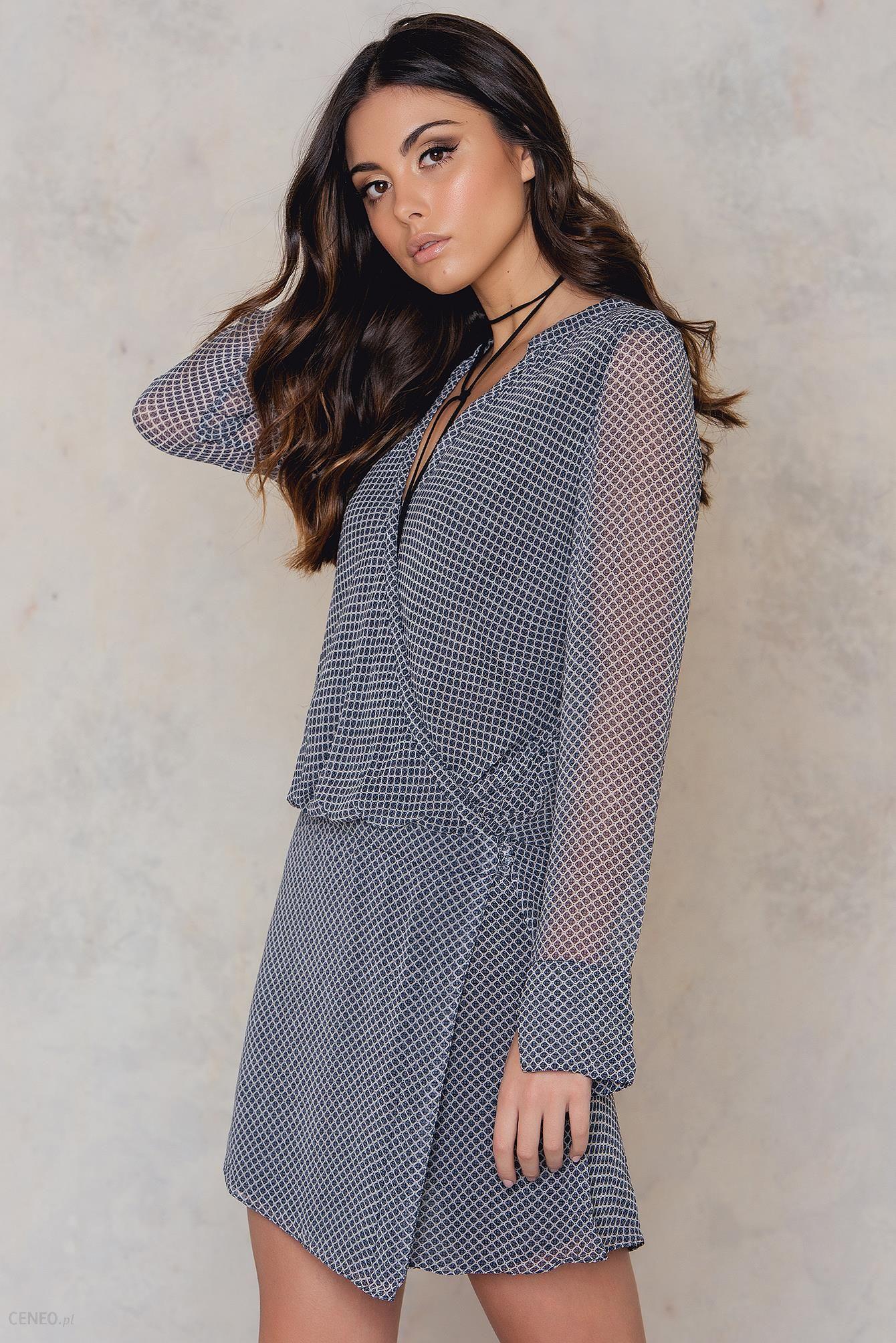 ad84d460af NA-KD Kopertowa sukienka Belmont - Ceny i opinie - Ceneo.pl