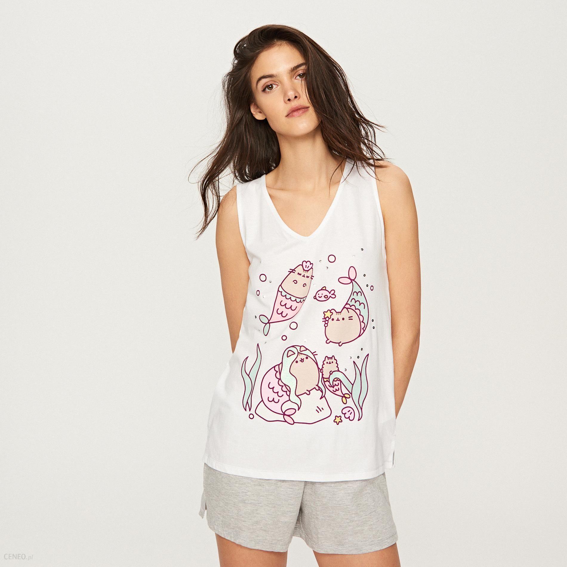 e8e82f3b227745 Reserved - Dwuczęściowa piżama pusheen - Biały - Ceny i opinie ...