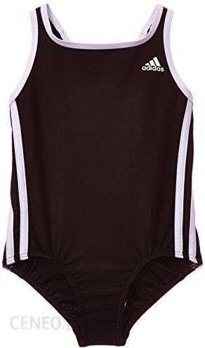 835b112f4c4f6c Amazon adidas kostium kąpielowy dla dziewczynki, 3 paski, czarny, 128 -  zdjęcie 1