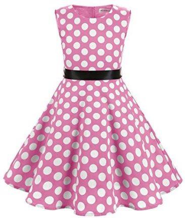 ba428fe28c Amazon muadress sukienka dziewczęca Vintage braumwolle 50 lata kwiat dla  dzieci dziewczynki sukienki - l