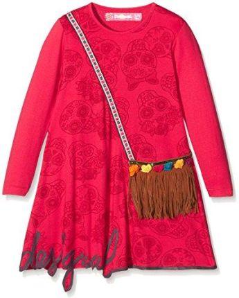 ed21360a84 Amazon Desigual sukienka dziewczęca Vest   adís abebie - różowy (fuchsia  rose ...
