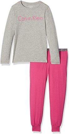 d404482f31f261 Amazon Calvin Klein dziewczyny zestaw dwóch częściowy piżama LS Knit PJ -  t-shirt