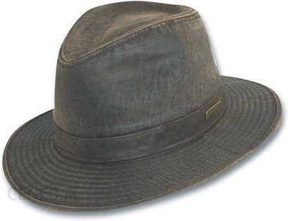 Amazon Indiana Jones Fedora wykonana z verwitterter bawełna – ciemny brąz -  m ciemnobrązowy - zdjęcie 3bc582eb5e5