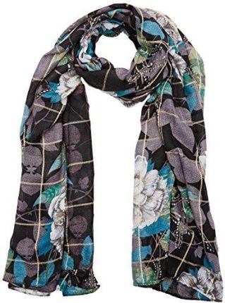 Amazon Desigual damski Szal Foulard _ Rectangle Troy -  czarny (Negro 2000)
