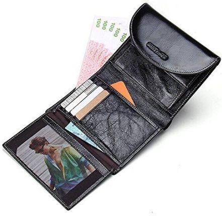 7690f146e5fd0 Amazon Contacts olej wosk skóra bydlęca skóra naturalna Mens moneta card  Bag torba podróżna portfel