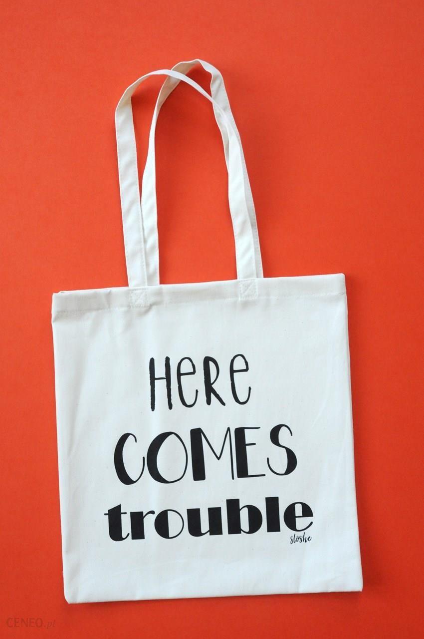 6ecb90ae104c9 Here comes trouble, torba bawełniana - zdjęcie 1 ...