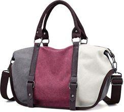 be52d9b72425a Amazon ugooo dziewcząt dla pań Vintage Canvas torba z uchwytem torba na  ramię Torebka Torba na ramię Shopper torba do noszenia