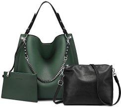 a561bfe11be6d Amazon Damskie torebki torba na ramię torba na ramię portfel Tote torebki  zestaw 3 sztuki duży