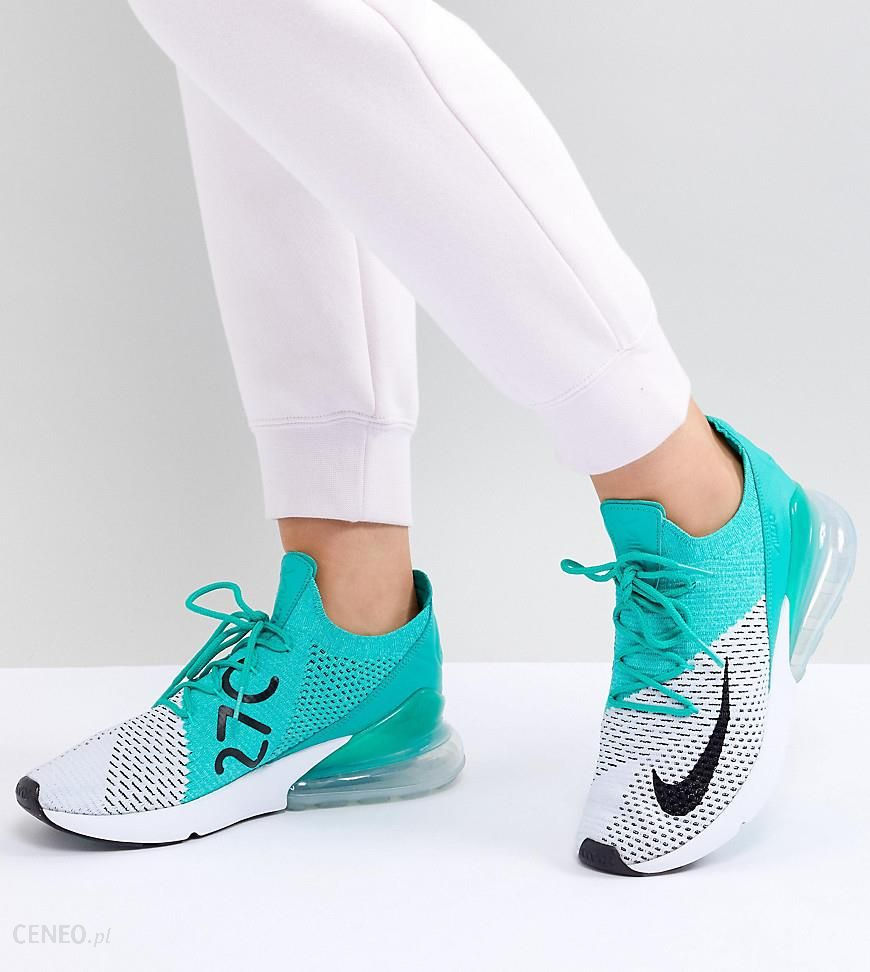 Nike Air Max 270 Flyknit Trainers Green Ceneo.pl