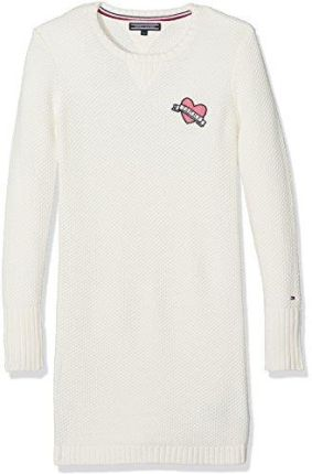 0238e025b5 Amazon Tommy Hilfiger sukienka dziewczęca AME Solid Sweater Dress L S -