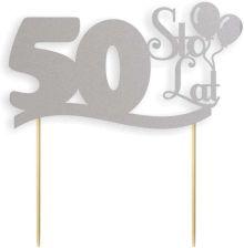 Dekoracja Na Tort Papierowa Urodziny 50 Srebrna 17cm Ceny I Opinie