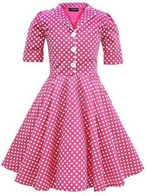 e472f78229 Amazon Black Butterfly dzieci  Sabrina  Polka Dots sukienka Vintage w stylu lat  lat