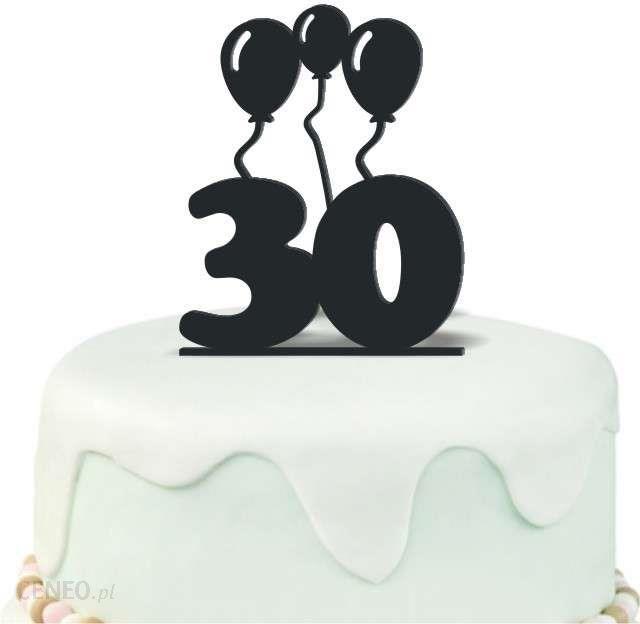 Dekoracja Na Tort Urodziny 30 Czarna 125cm Ceny I Opinie Ceneopl