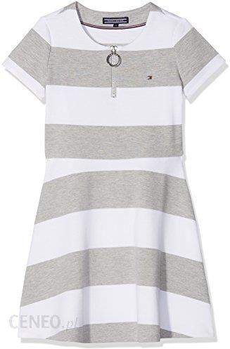 9d91d64800 Amazon Tommy Hilfiger sukienka dziewczęca AME Bright Stripe Knit Dress S S  - A-