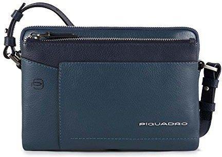 48f316528bac5 Amazon Piquadro damskie Cary torby na ramię, 4.5 x 15.5 x 22 cm - niebieski