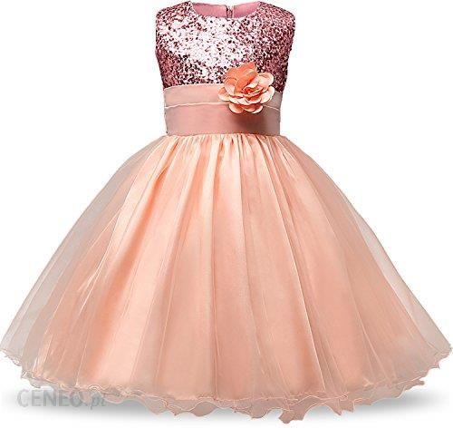 aef1b0f9d6 Amazon nnjxd dziewcząt kwiat z cekinami księżniczka Tutu tiulową Baby  sukienka na imprezę - Rosa -
