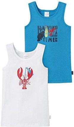 1fd7da4f241a60 Amazon Schiesser koszulka chłopięca koszula 0/0, 2er Pack, kolor:  wielokolorowa,