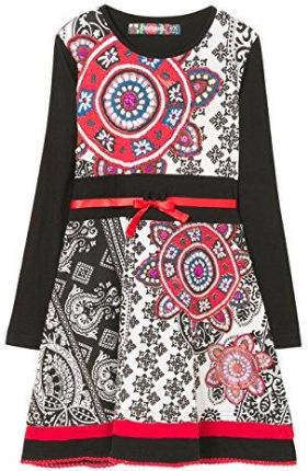 f250adf2dc Amazon Desigual sukienka dziewczęca Vest   gaberones - czarny (Negro 2000)