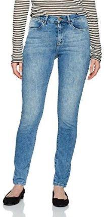 c498924556152 Amazon Wrangler dżinsy damskie High Rise Skinny Best Blue - Skinny 32W   32L
