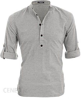 Amazon Allegra K męska koszula w obrębie guzik rękawy z  6IZiK