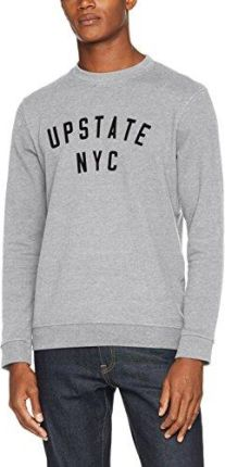 56fd1b9eaa6d5 Amazon Selected Homme bluza męska shhtobias Print Crew Neck Sweat - krój  regularny xl szary (